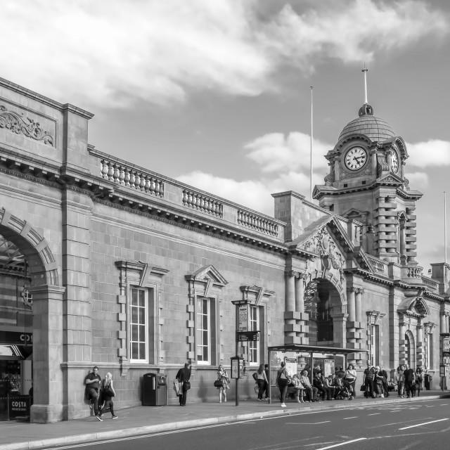 """""""Nottingham railway station"""" stock image"""