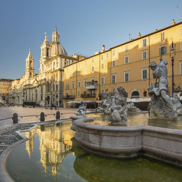 """Piazza Navona at sunrise"" stock image"