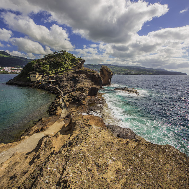 """Ilha Vila Franca do Campo"" stock image"
