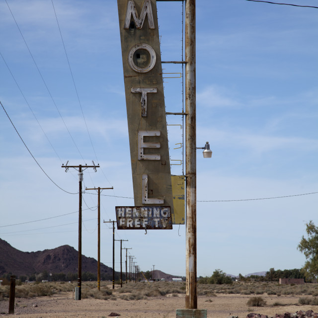 """Old Motel Sign"" stock image"