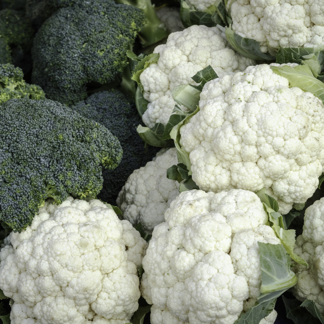 """Broccoli and Cauliflower"" stock image"
