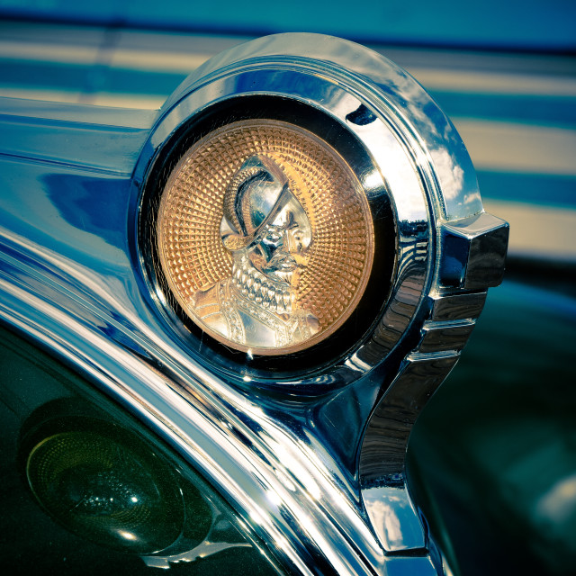 """DeSoto Hood Ornament"" stock image"