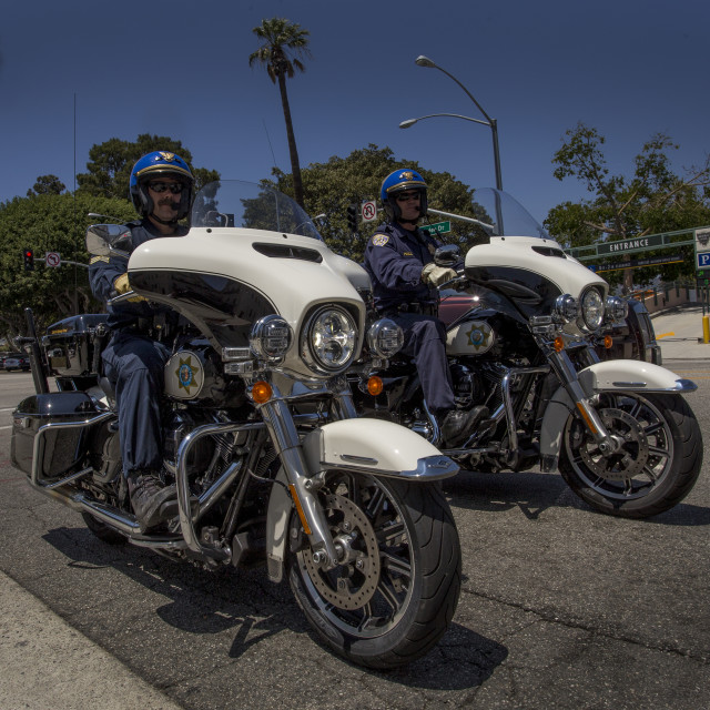 """LAPD Officers on Rodeo Drive"" stock image"