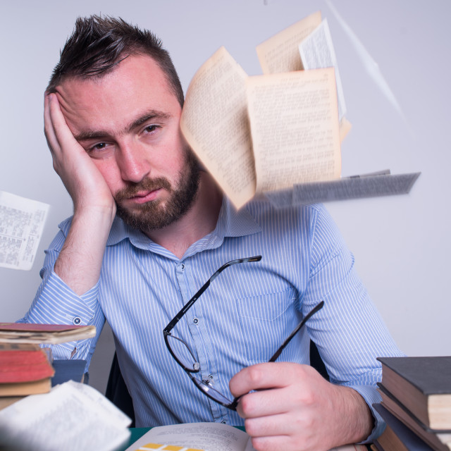 """""""to much to work on but i m tired"""" stock image"""