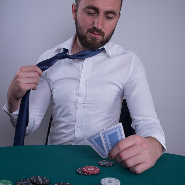 """poker player sweating"" stock image"