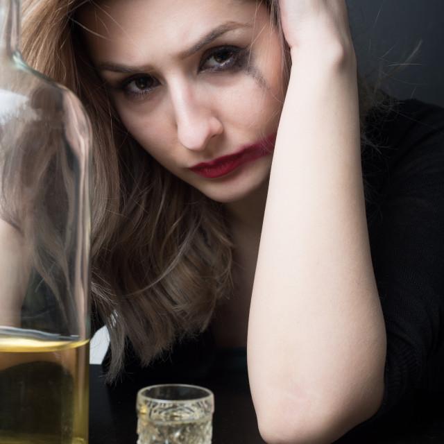 """""""sad alcoholic"""" stock image"""