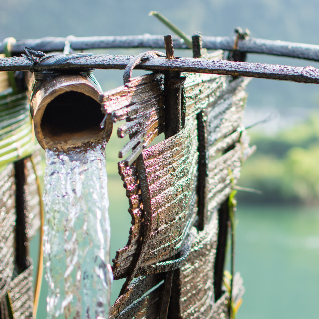 """Old watermill close up. Power of nature"" stock image"