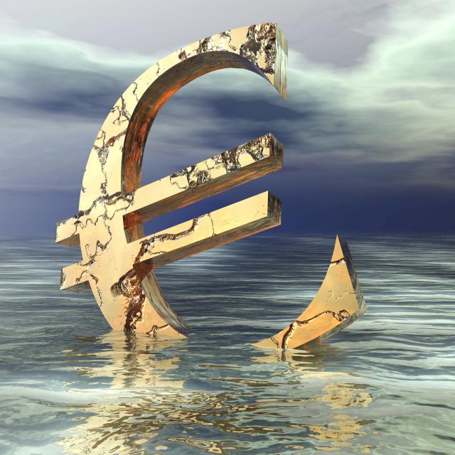 """Euro Crysis"" stock image"