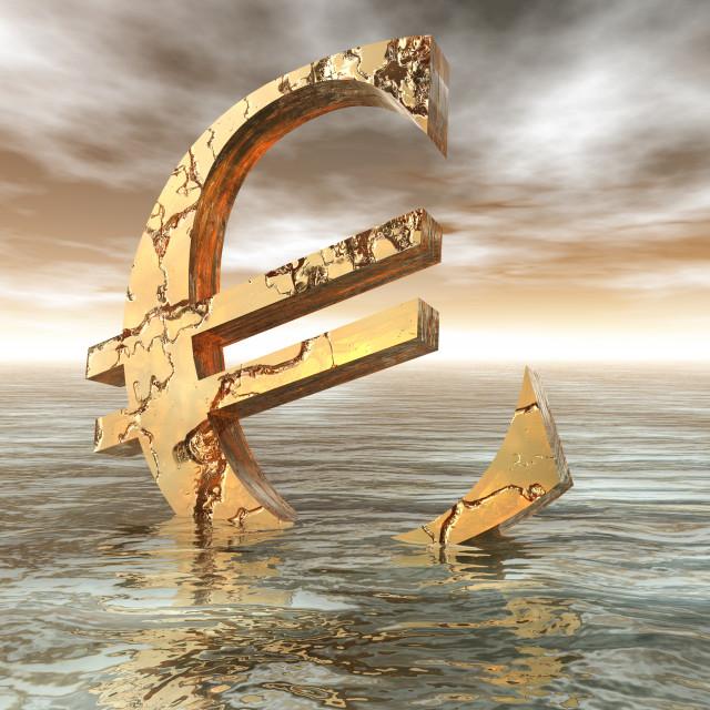 """""""Euro Crisis"""" stock image"""