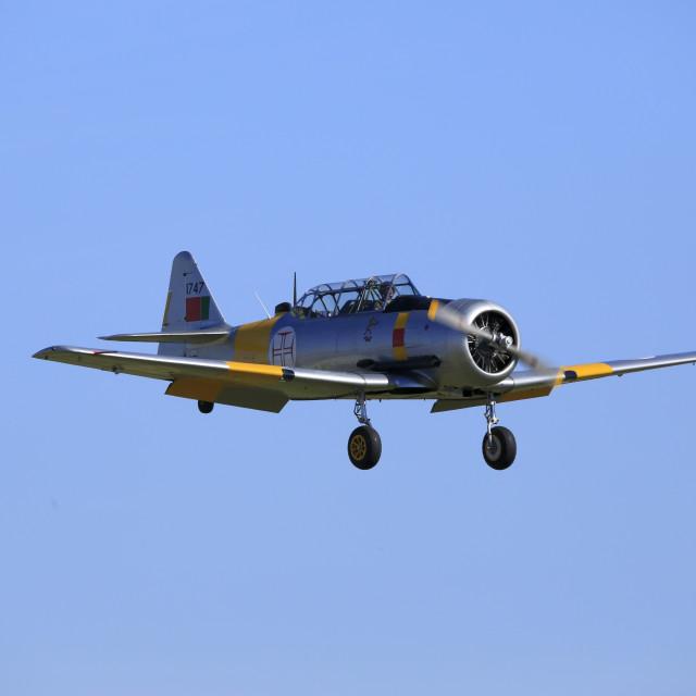 """North American Harvard IV landing"" stock image"