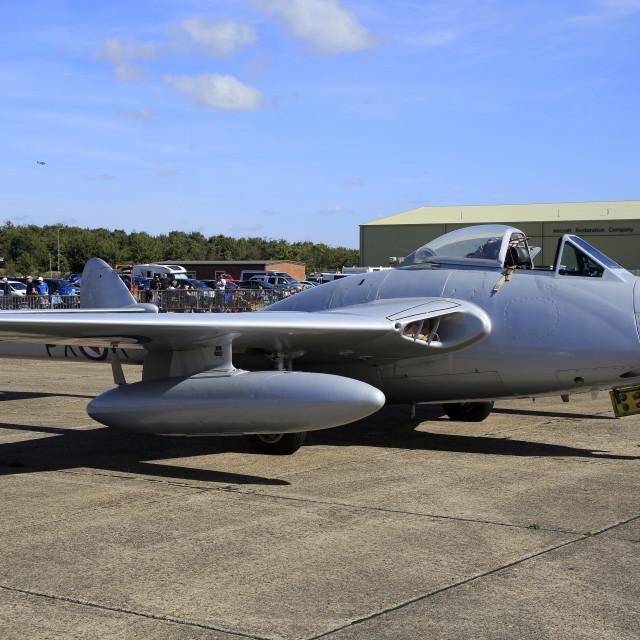 """""""De Havilland Vampire FB6"""" stock image"""