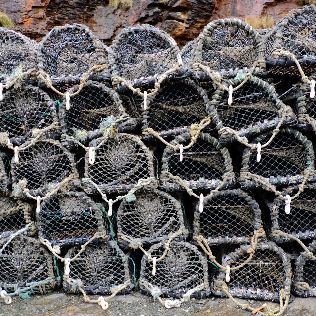 """Lobster Pots"" stock image"