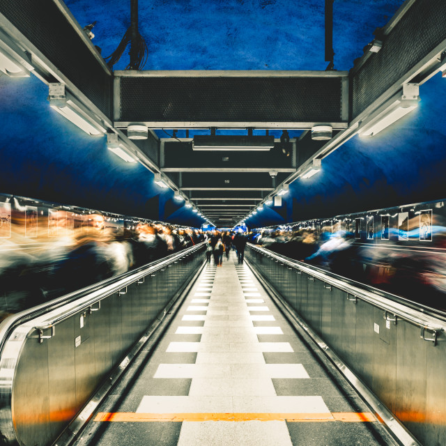 """""""Rush hour in Stockholm"""" stock image"""