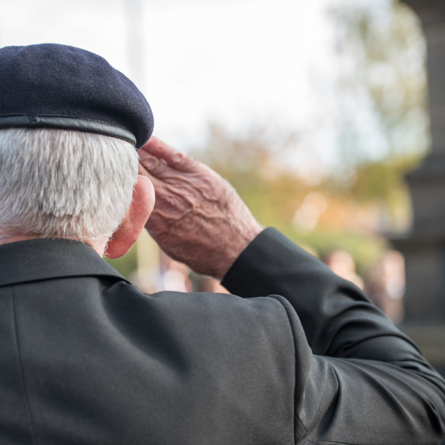 """""""Brentwood, Essex two minute silence for Armistice day"""" stock image"""
