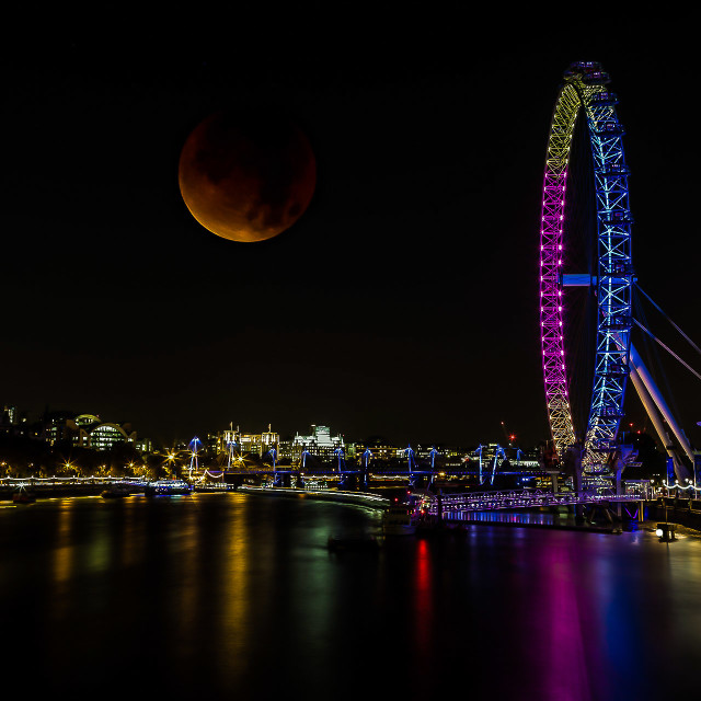 """Blood Red Moon"" stock image"