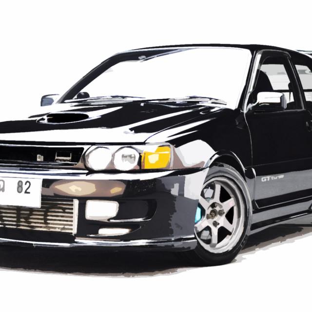 """Sporty turbocharged Starlet"" stock image"