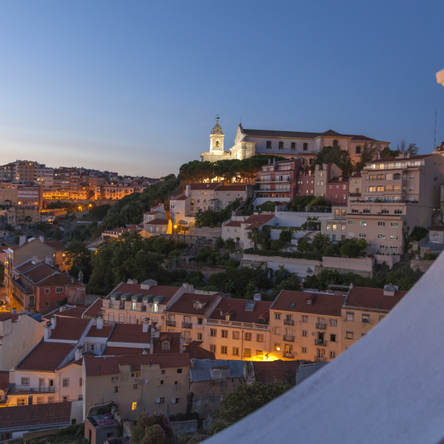 """Evening in Lisbon"" stock image"