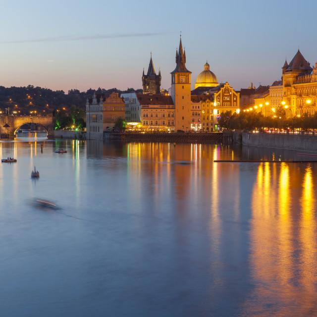 """""""Evening Prague"""" stock image"""