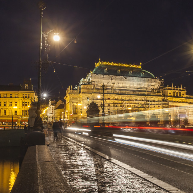 """Night Prague"" stock image"