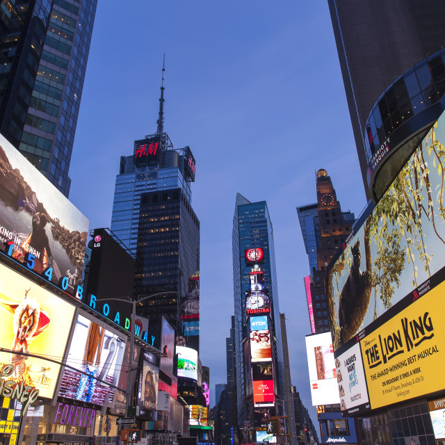 """Times Square in the evening"" stock image"