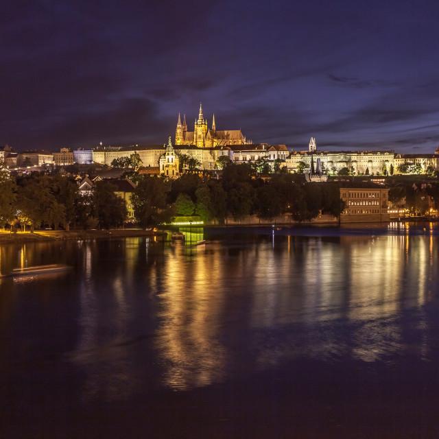 """""""Night Prague"""" stock image"""