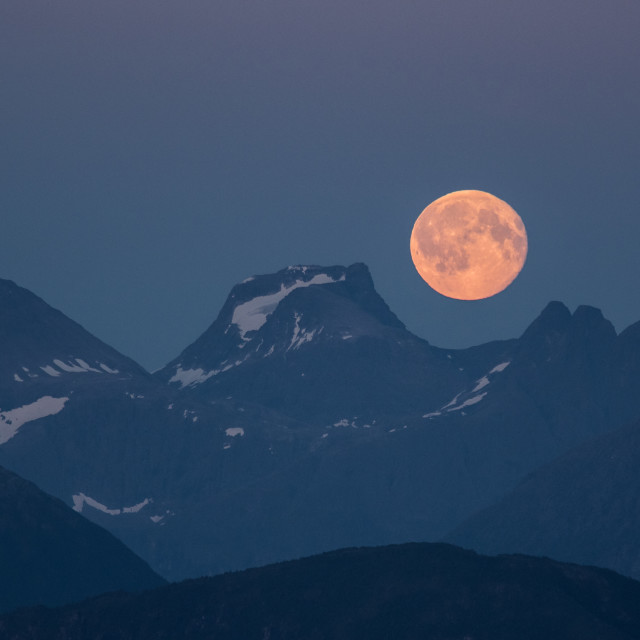"""Moon and mountains"" stock image"