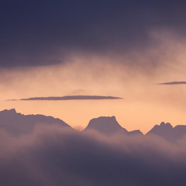 """Romsdal peaks"" stock image"