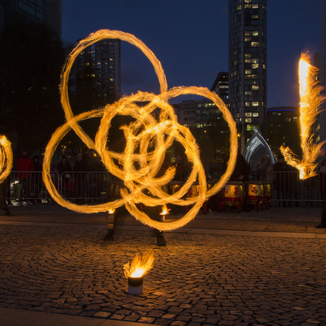 """Fire Spinning"" stock image"