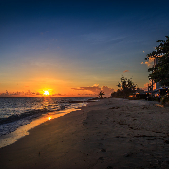 """Bajan sunset."" stock image"
