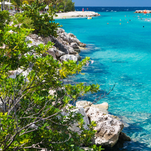 """""""Curacao, Caribbean waters"""" stock image"""