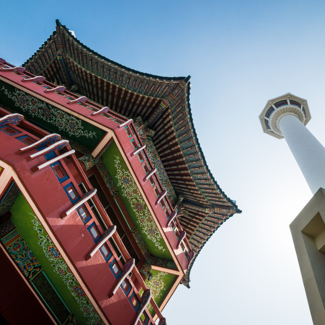 """Busan, South Korea monuments"" stock image"