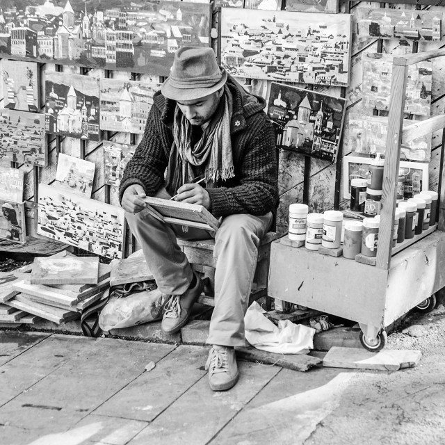 """Street Artist"" stock image"