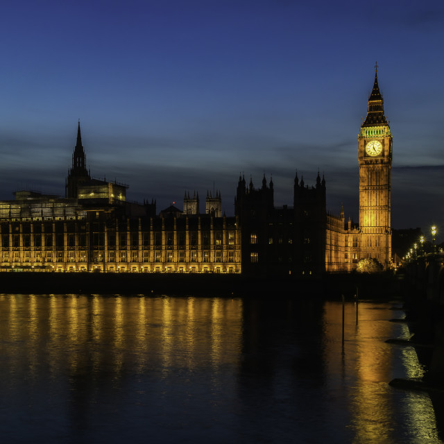 """The Palace of Westminster"" stock image"