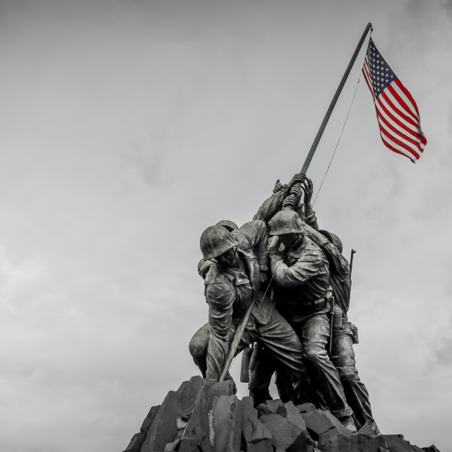 """Marine Corps War Memorial"" stock image"