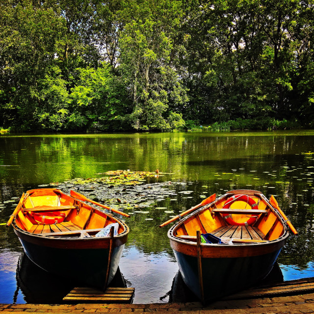 """Two boats"" stock image"