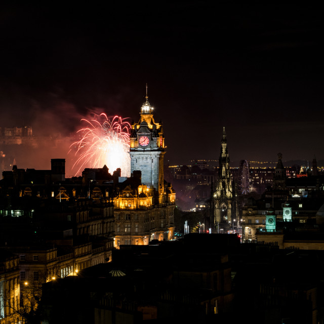 """Edinburgh Fireworks"" stock image"