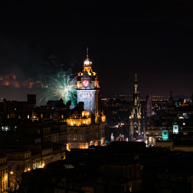 """Edinburgh Scenic Nights"" stock image"