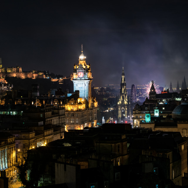 """Edinburgh Nights"" stock image"