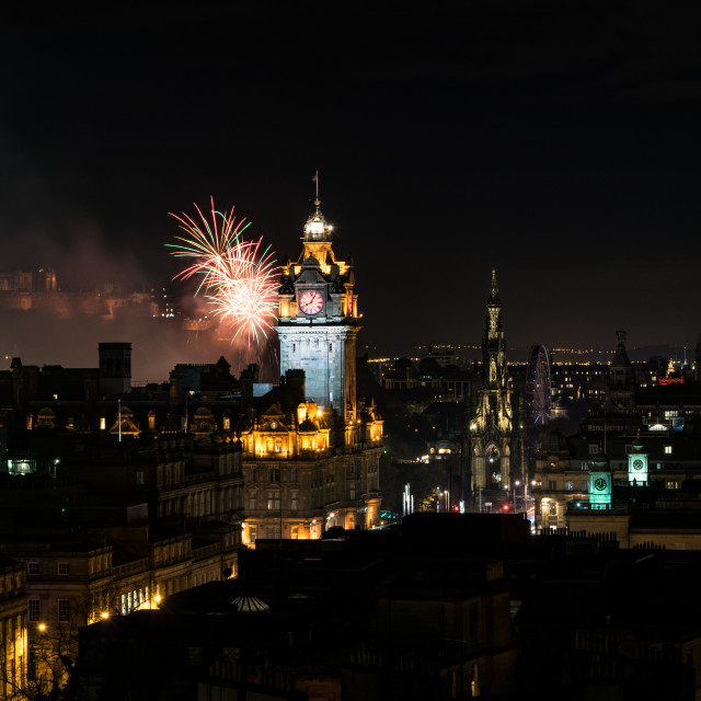 """Edinburgh Beautiful Nights"" stock image"