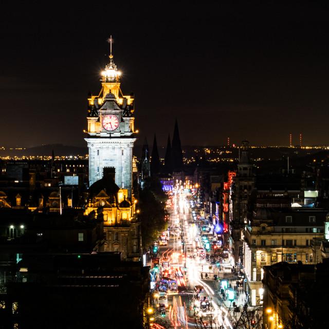 """Edinburgh night of lights"" stock image"