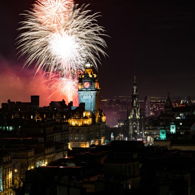 """Edinburgh Diwali Nights"" stock image"