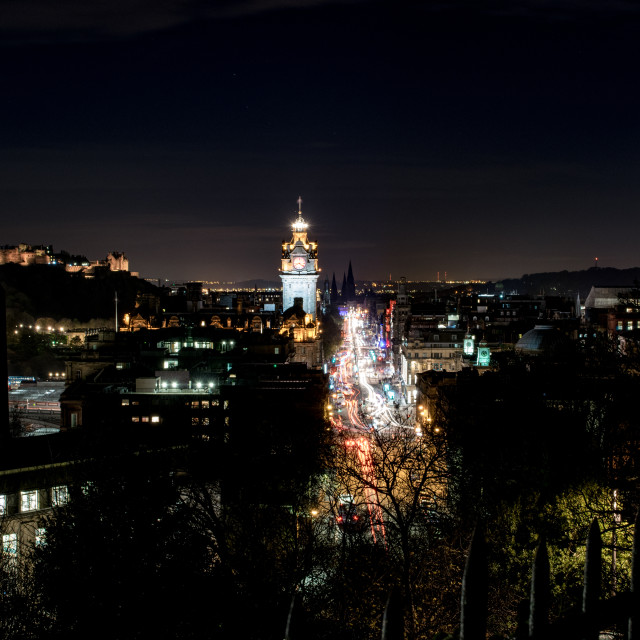 """Edinburgh City Nights"" stock image"