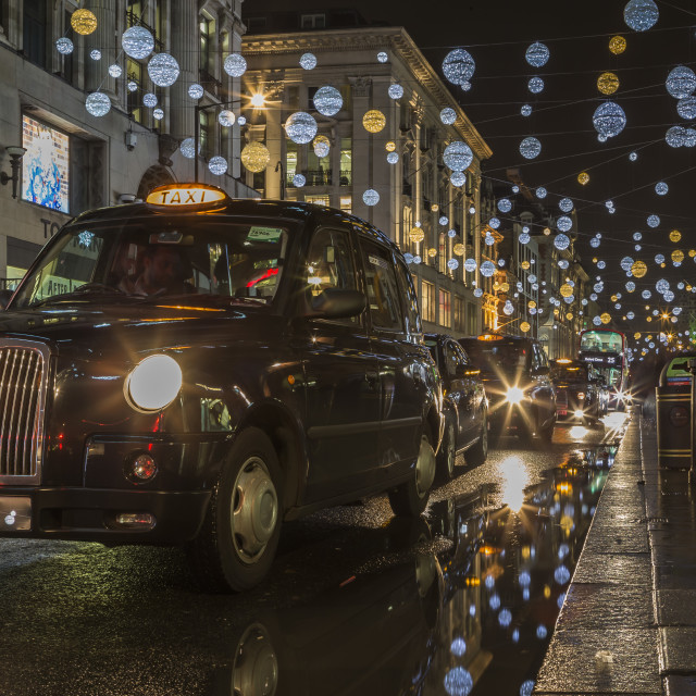 """Oxford Street At Night"" stock image"