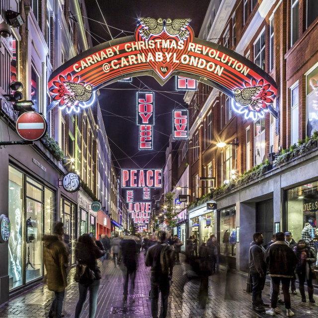 """Carnaby Street Signs"" stock image"