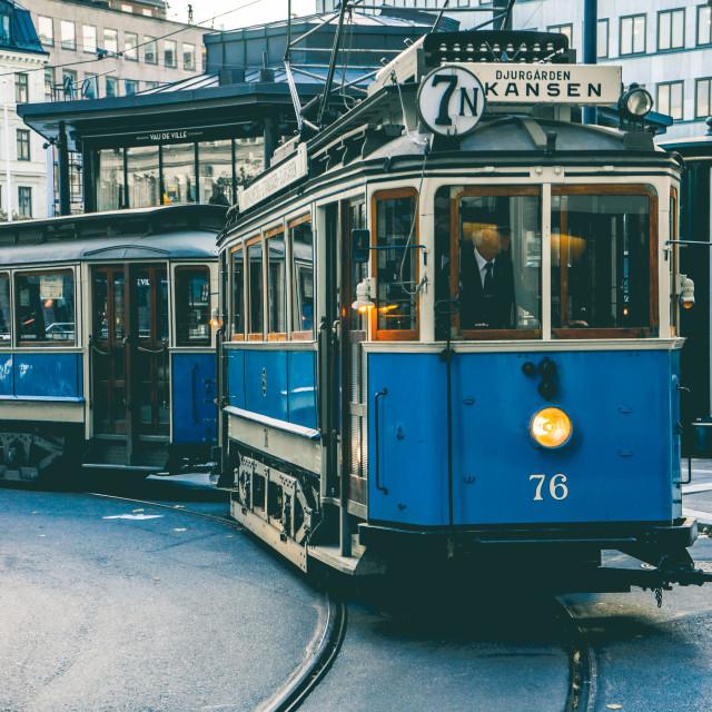 """Stockholm Tram"" stock image"