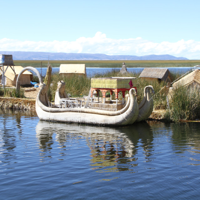 """Uros island life,"" stock image"