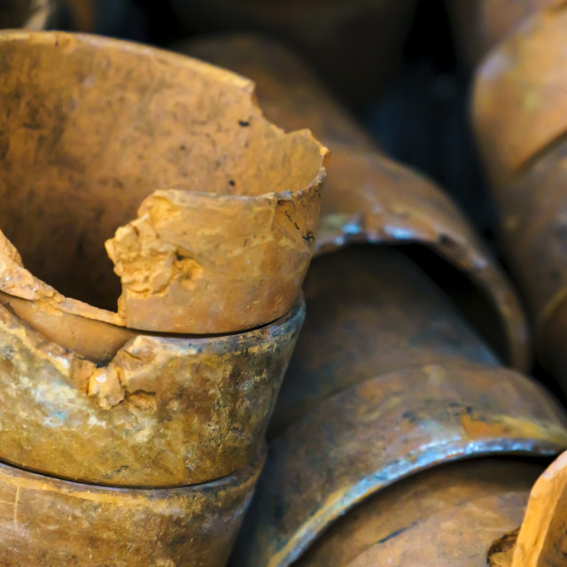 """Old flower pots"" stock image"