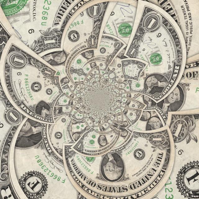 """""""Dollar Bills"""" stock image"""