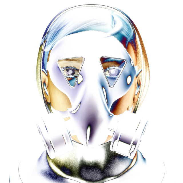 """3D Illustration, 3D Rendering of a Protection Mask"" stock image"