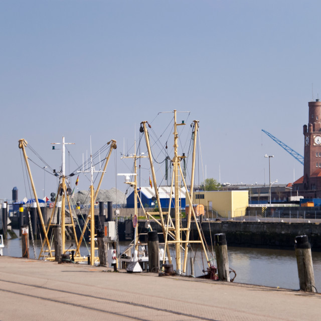 """Fishing port Cuxhaven"" stock image"